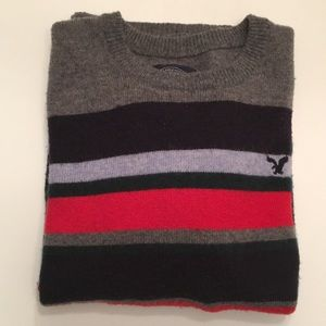 American Eagle Athletic Fit striped sweater